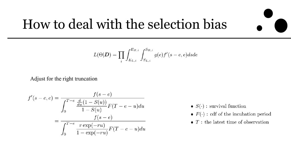 How to deal with the selection bias Adjust for ...