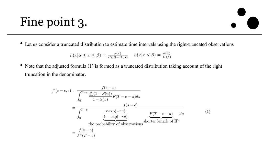 Fine point 3. • Let us consider a truncated dis...
