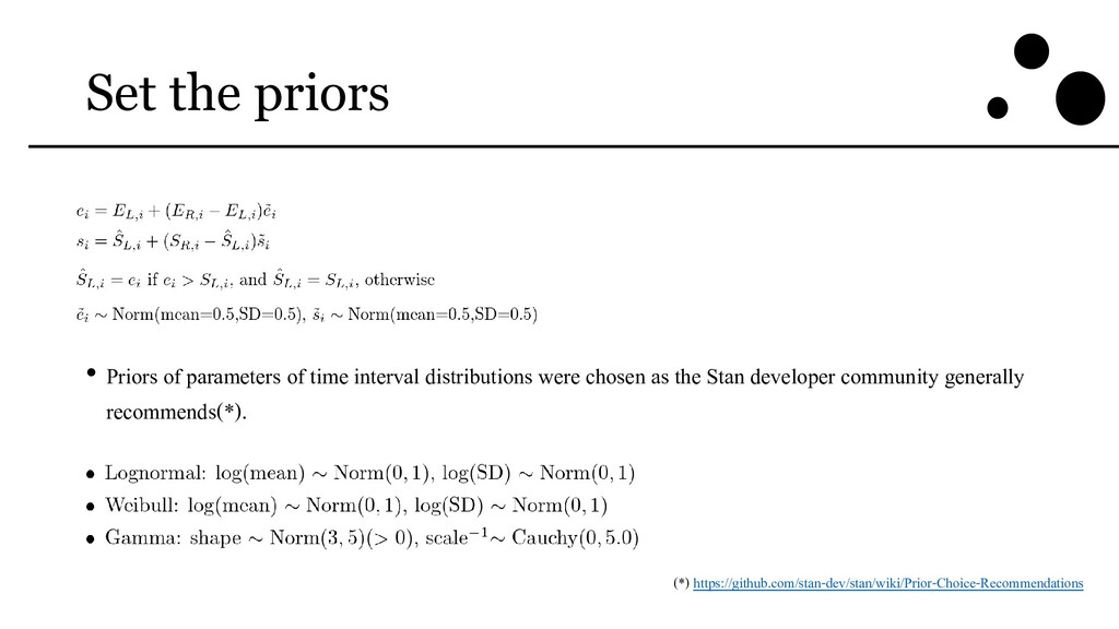 Set the priors • Priors of parameters of time i...