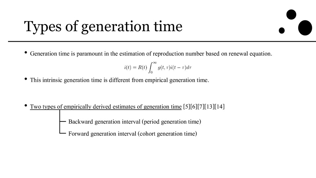 Types of generation time • Generation time is p...