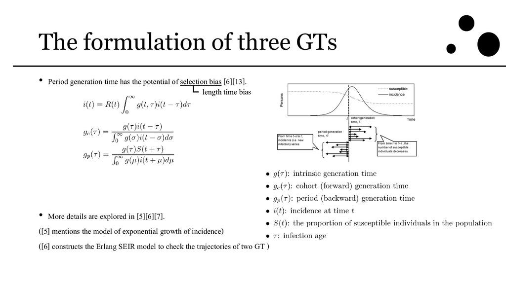 The formulation of three GTs • Period generatio...