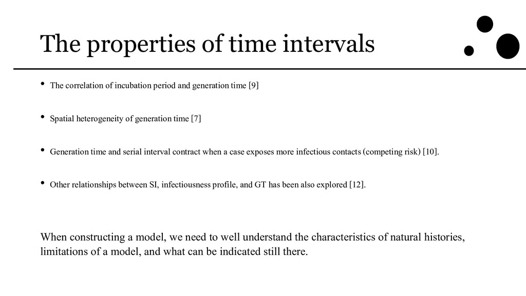 The properties of time intervals • The correlat...