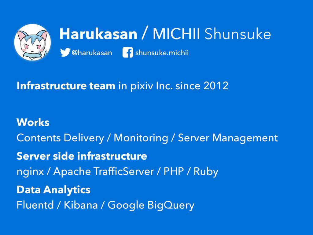 Harukasan / MICHII Shunsuke Infrastructure team...