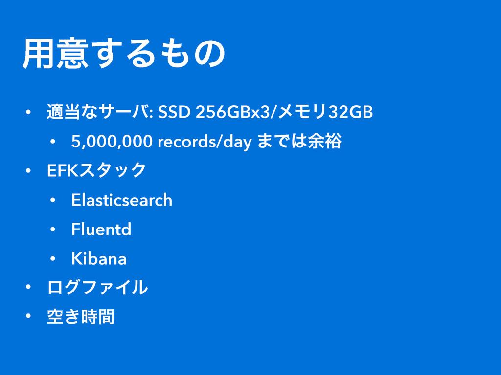 ༻ҙ͢Δͷ • దͳαʔό: SSD 256GBx3/ϝϞϦ32GB • 5,000,00...