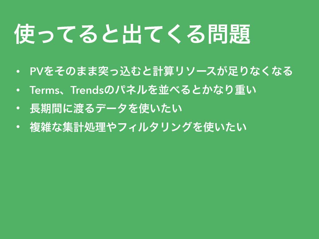 ͬͯΔͱग़ͯ͘Δ • PVΛͦͷ··ಥͬࠐΉͱܭϦιʔε͕Γͳ͘ͳΔ • Terms...