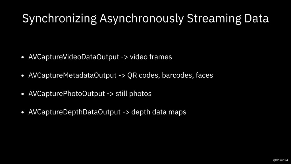 Synchronizing Asynchronously Streaming Data • A...