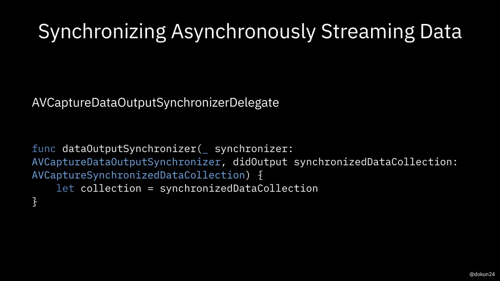 Synchronizing Asynchronously Streaming Data AVC...