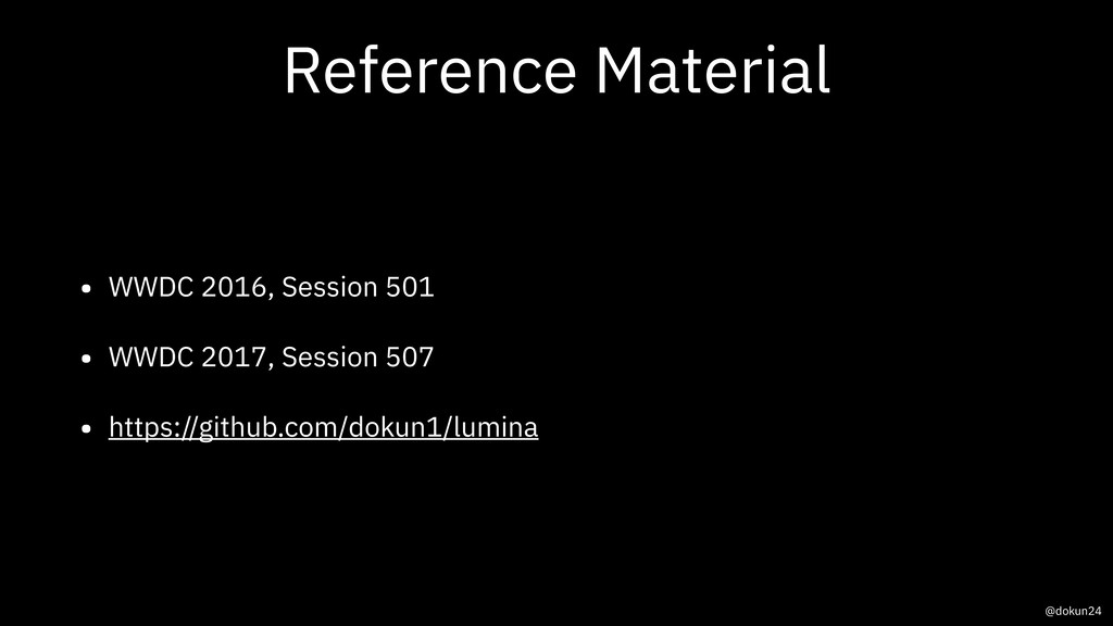 Reference Material • WWDC 2016, Session 501 • W...