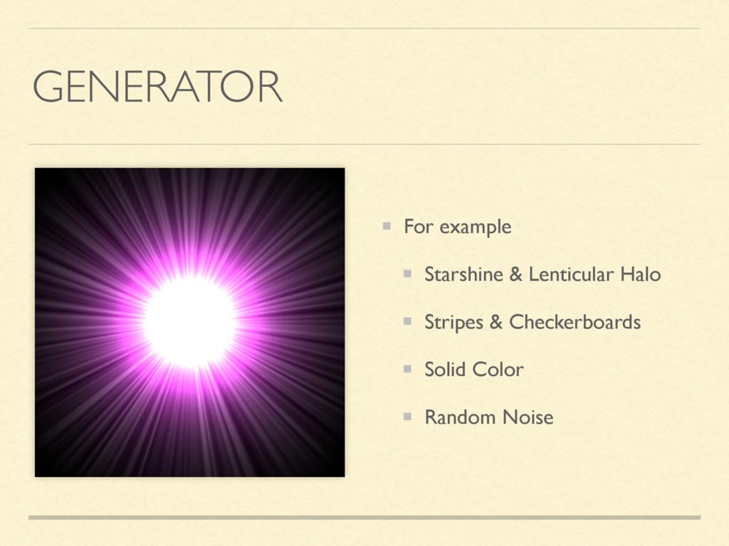 GENERATOR For example Starshine & Lenticular Ha...