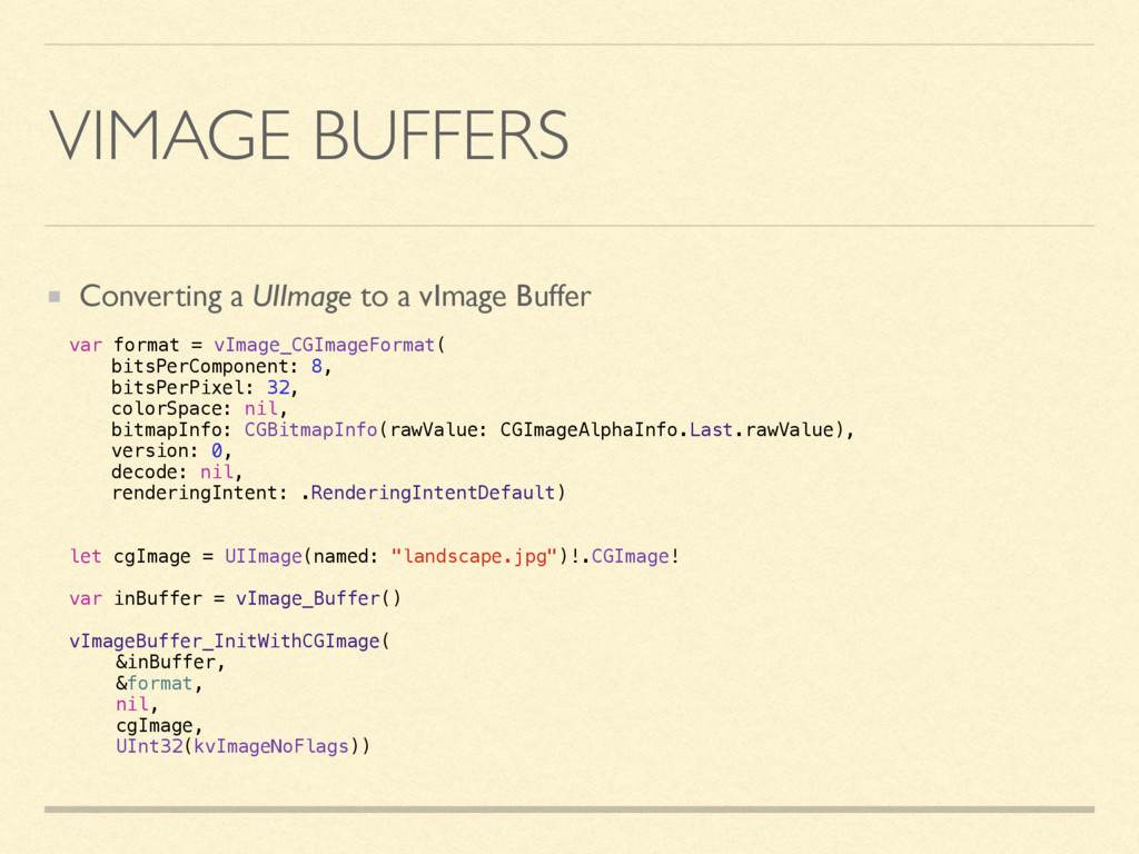 VIMAGE BUFFERS Converting a UIImage to a vImage...