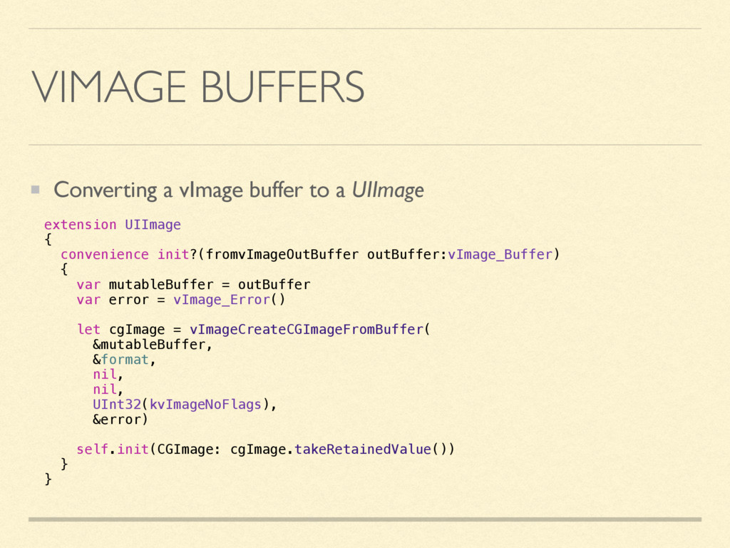VIMAGE BUFFERS Converting a vImage buffer to a ...