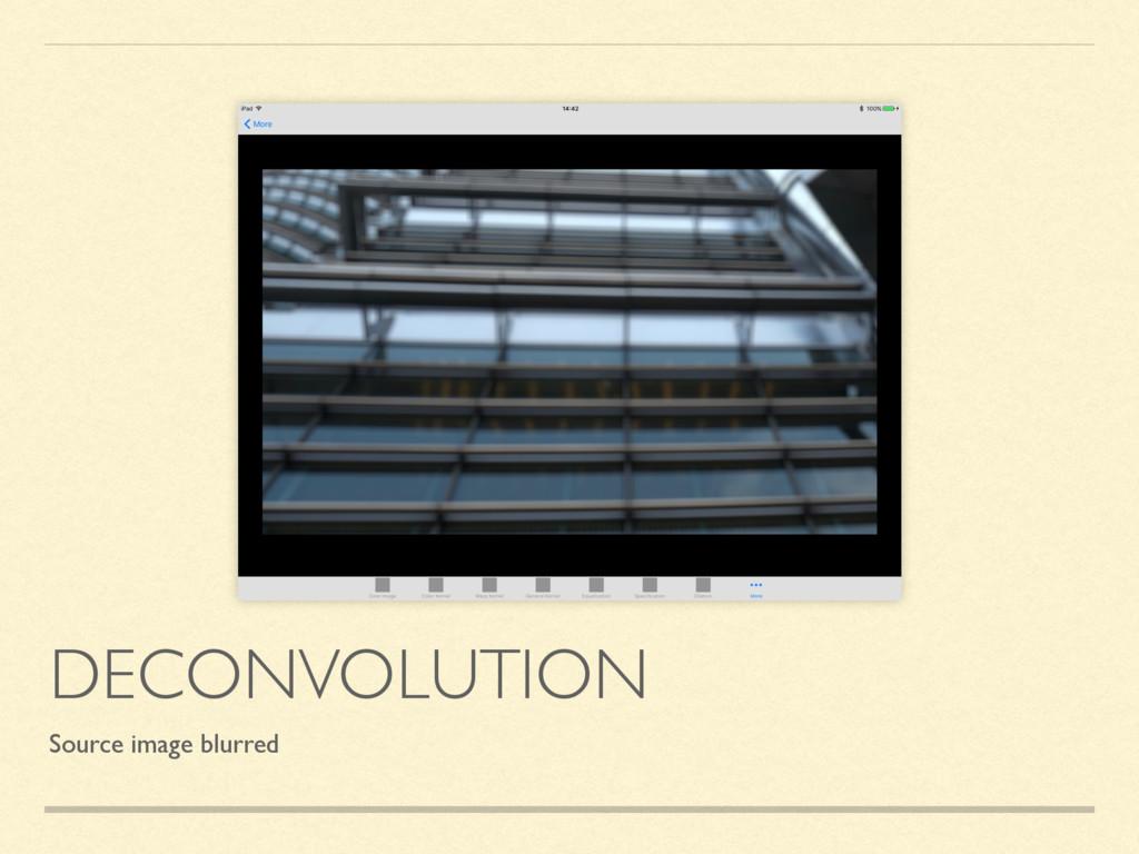 DECONVOLUTION Source image blurred