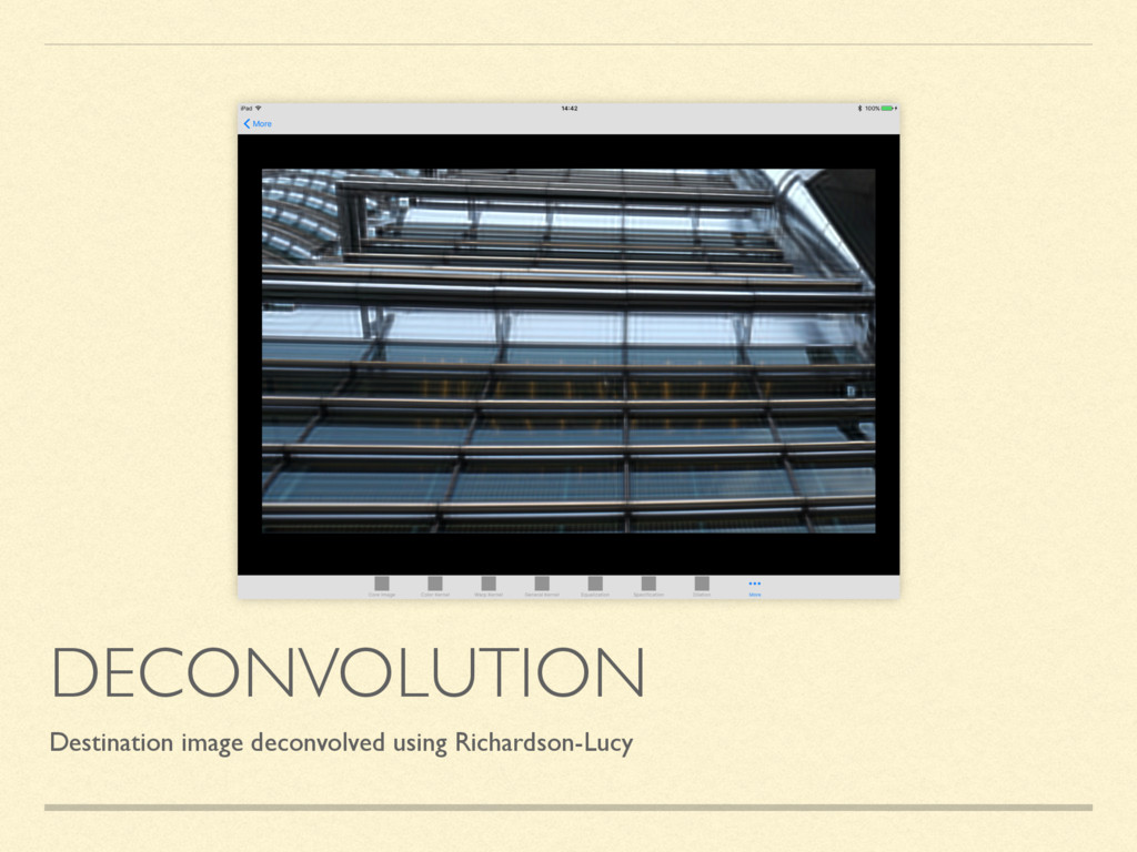 DECONVOLUTION Destination image deconvolved usi...