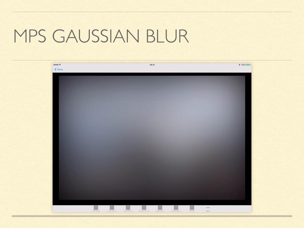 MPS GAUSSIAN BLUR