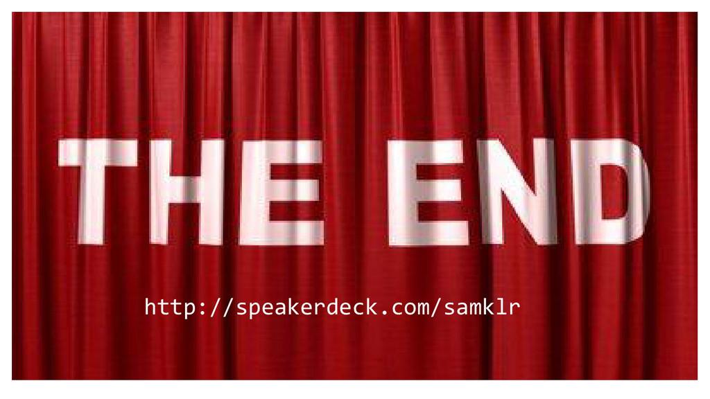 http://speakerdeck.com/samklr