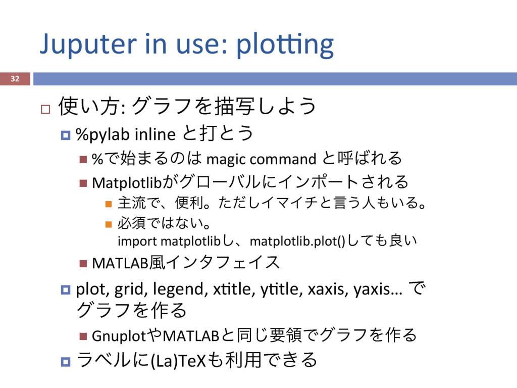 Juputer in use: ploKng 32 ¨ ͍ํ: άϥϑΛඳࣸ͠Α͏ ¤...