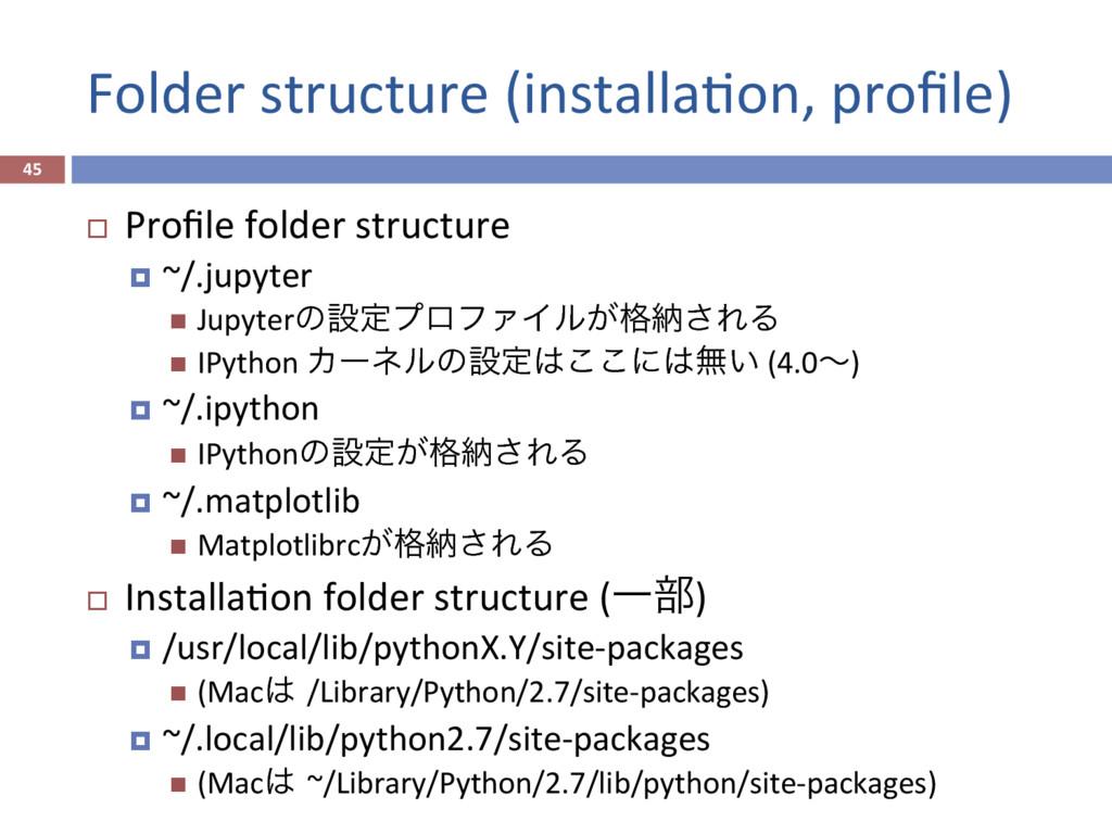 Folder structure (installaPon, profile) 45 ¨ P...