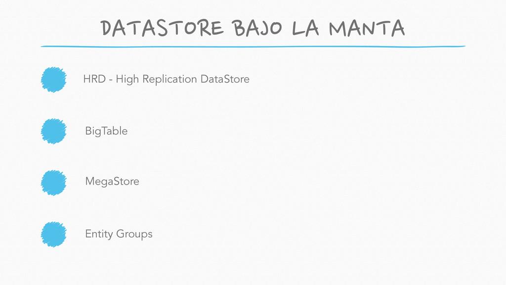 HRD - High Replication DataStore MegaStore BigT...