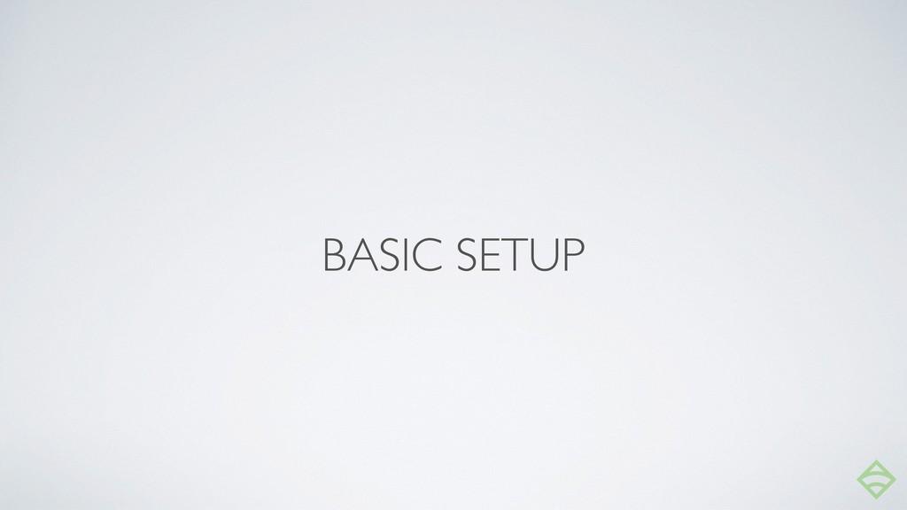 BASIC SETUP