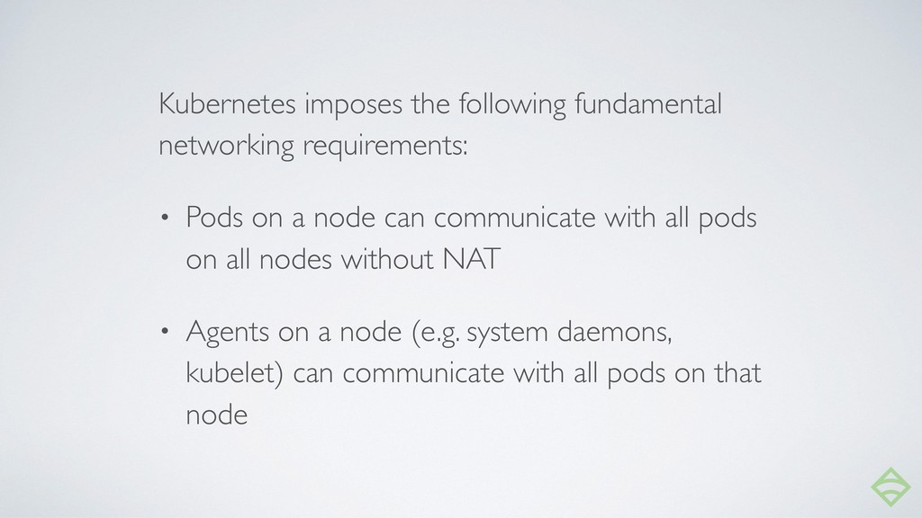 Kubernetes imposes the following fundamental ne...