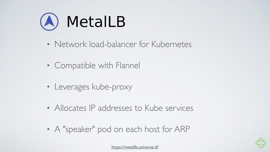 • Network load-balancer for Kubernetes • Compat...