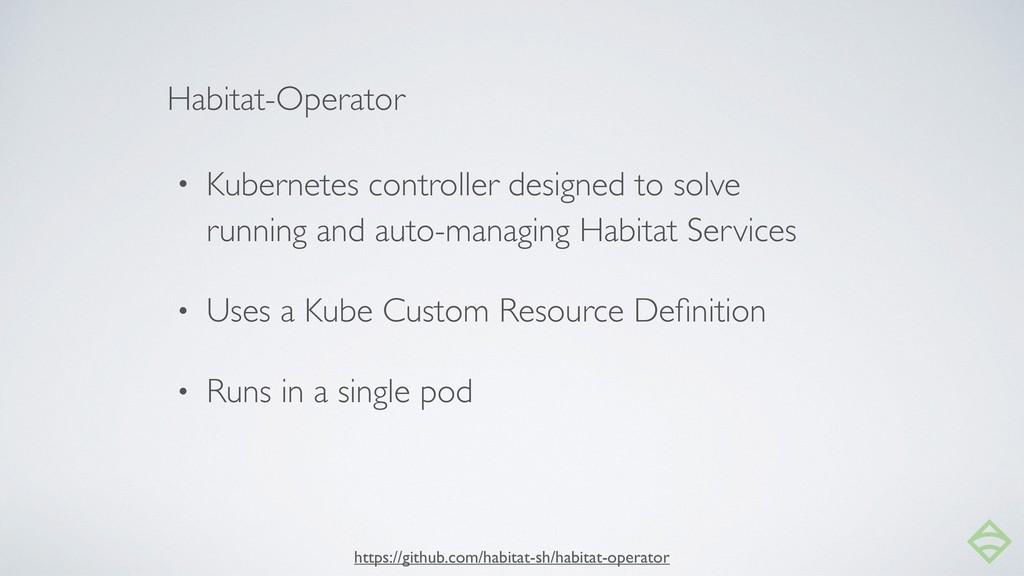 • Kubernetes controller designed to solve runni...
