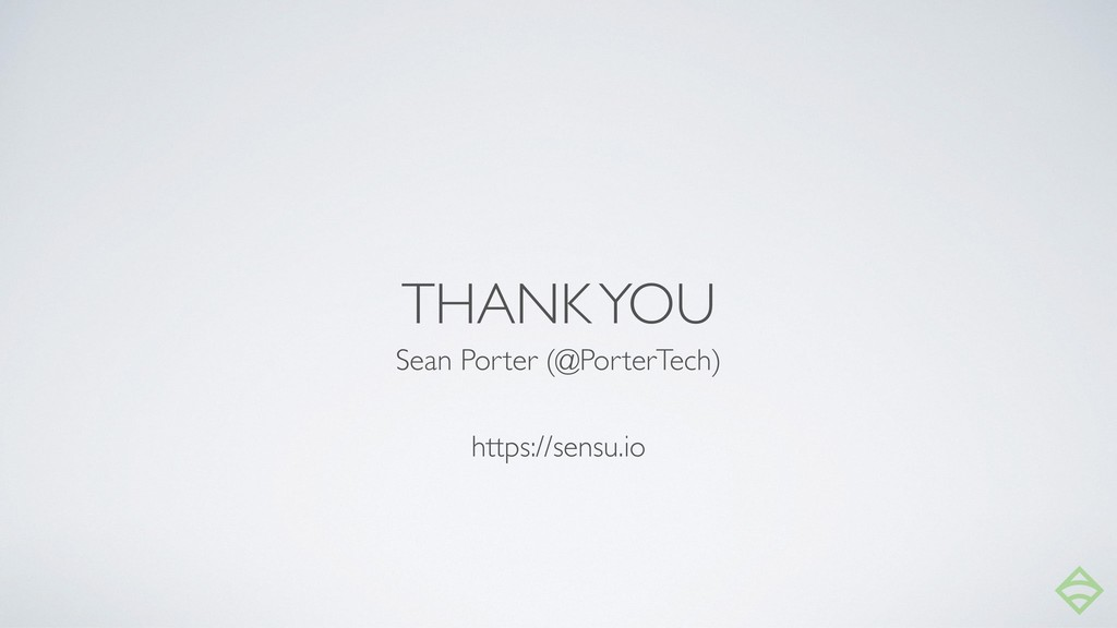 THANK YOU Sean Porter (@PorterTech) https://sen...