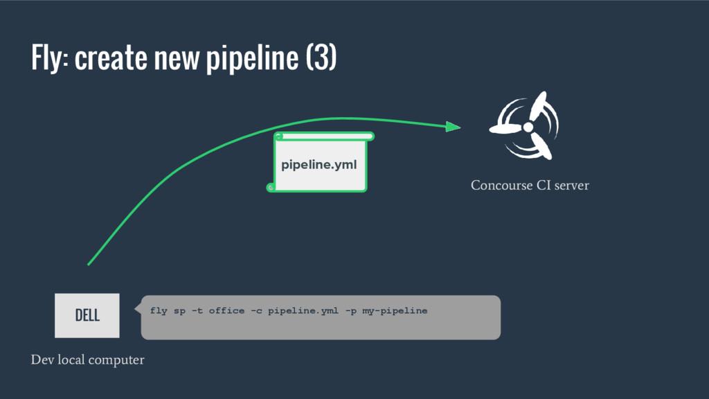 Fly: create new pipeline (3) Concourse CI serve...