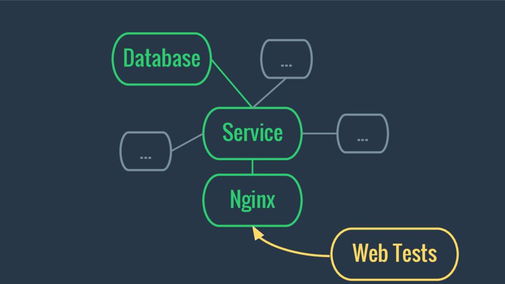 Service Database ... ... ... Nginx Web Tests