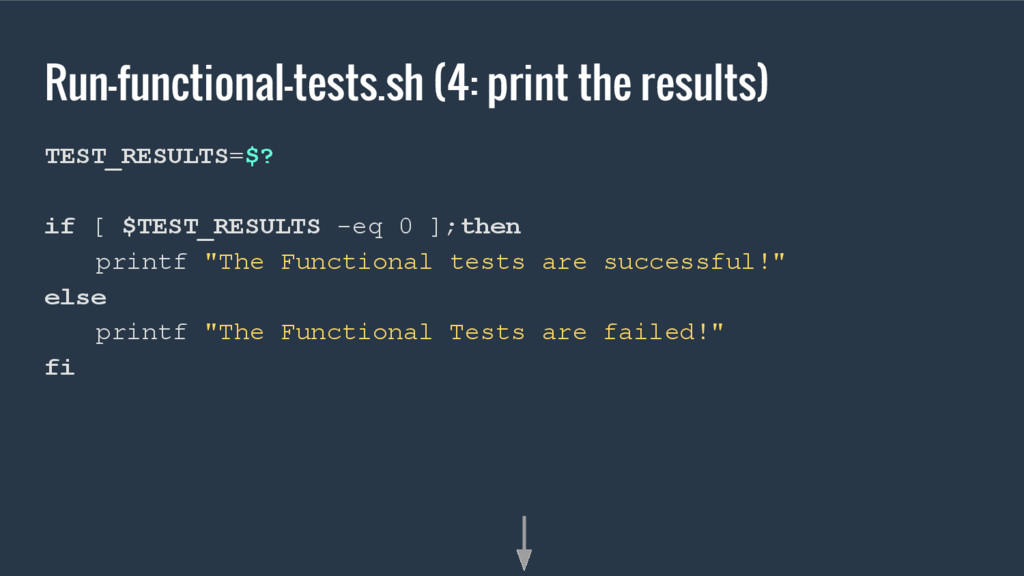 Run-functional-tests.sh (4: print the results) ...