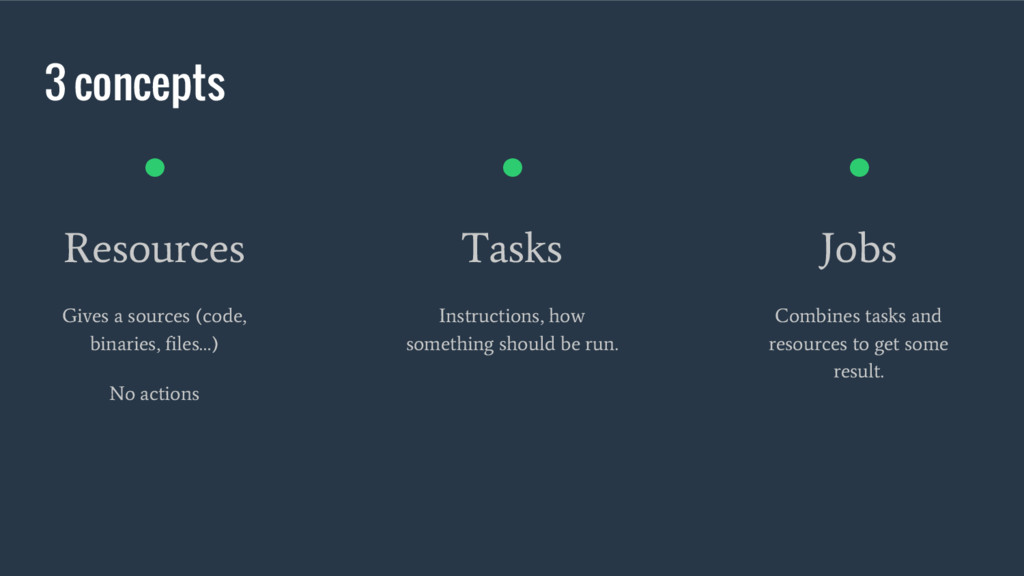 3 concepts ● Resources Gives a sources (code, b...