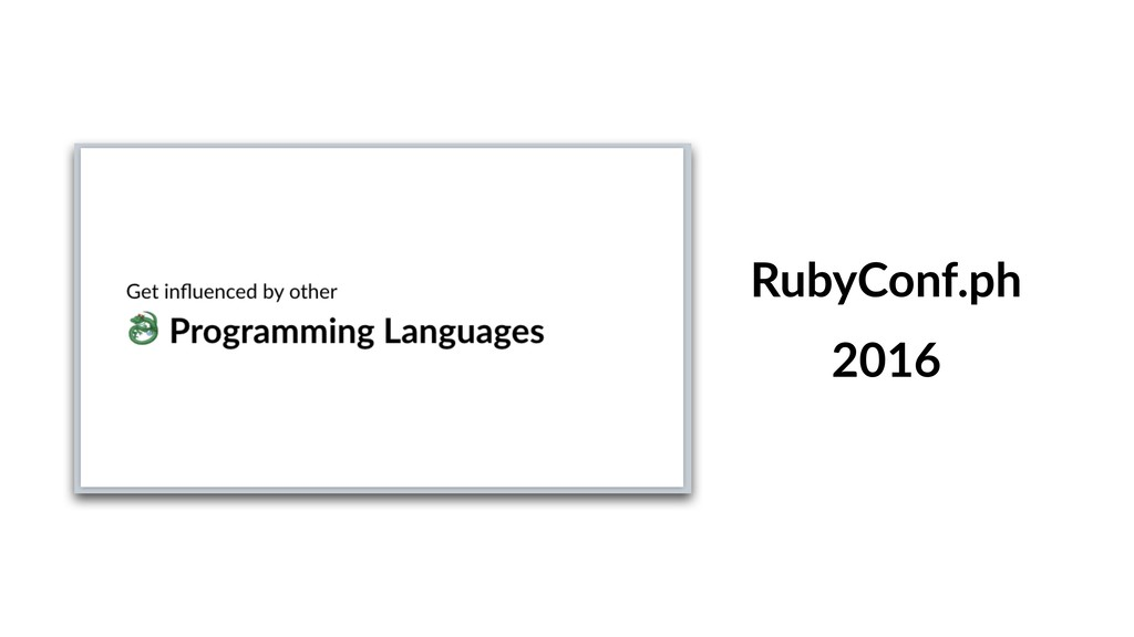 RubyConf.ph 2016