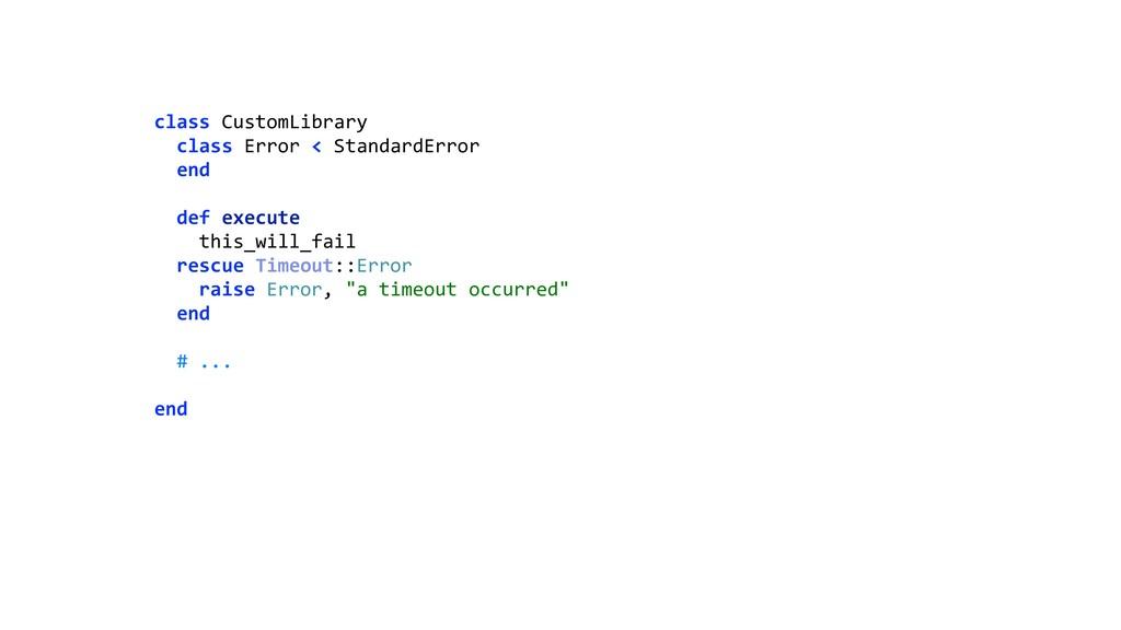class CustomLibrary class Error < StandardErro...
