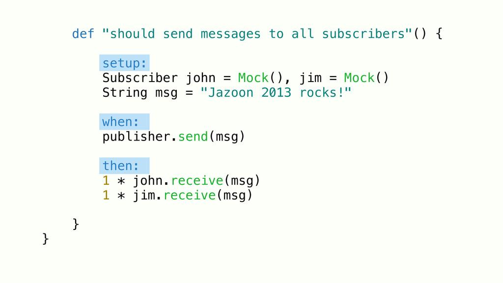 """def """"should send messages to all subscribers""""()..."""