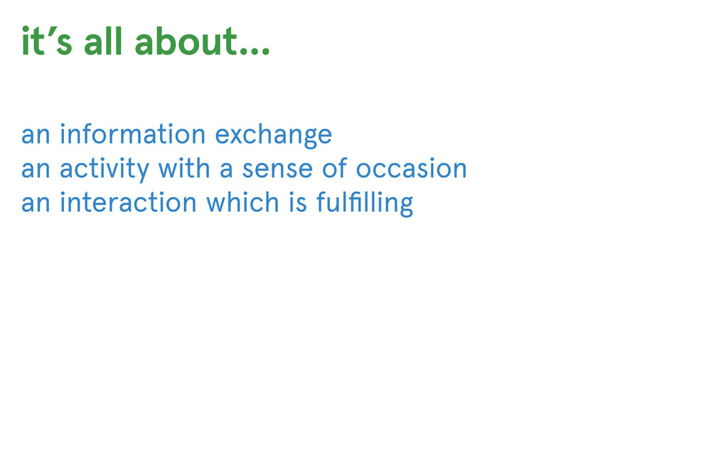 an information exchange an activity with a sens...