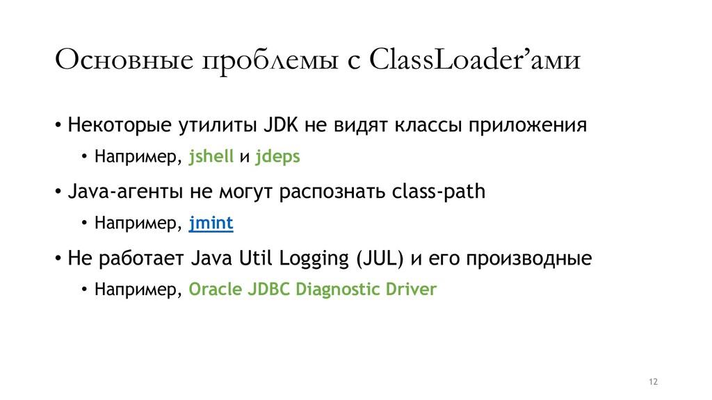 Основные проблемы с ClassLoader'ами • Некоторые...