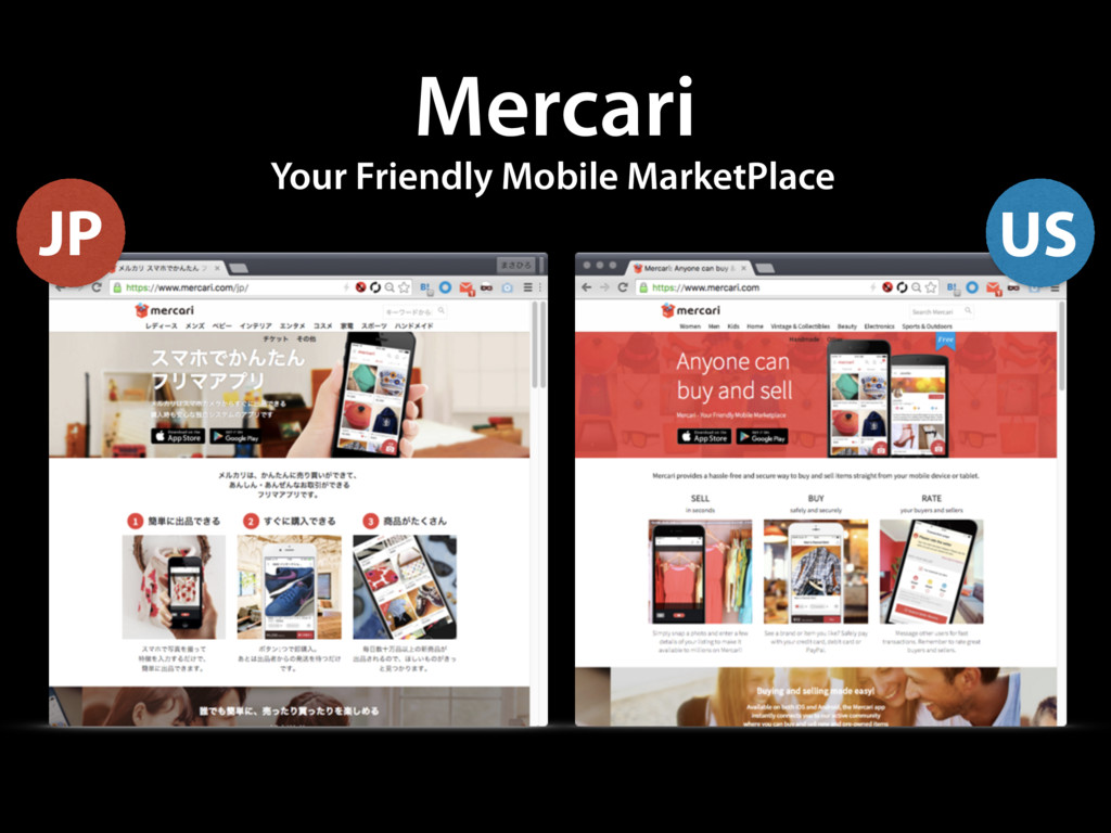 Mercari Your Friendly Mobile MarketPlace JP US