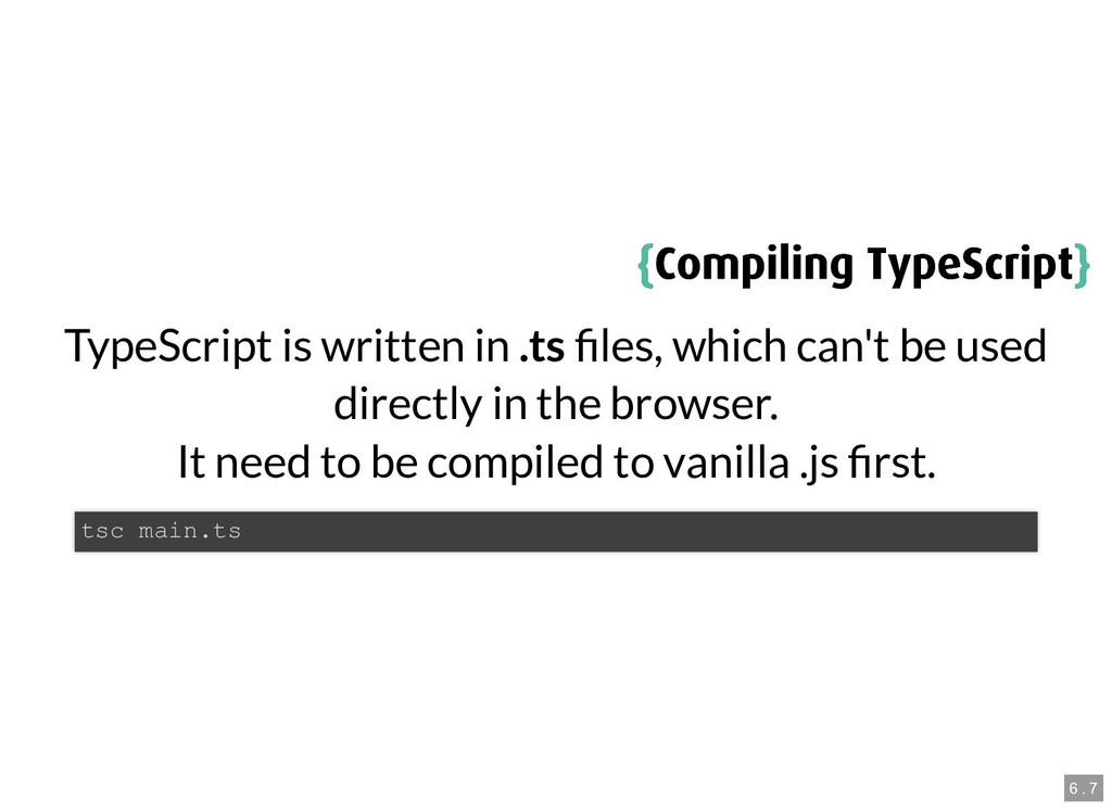 { {Compiling TypeScript Compiling TypeScript} }...