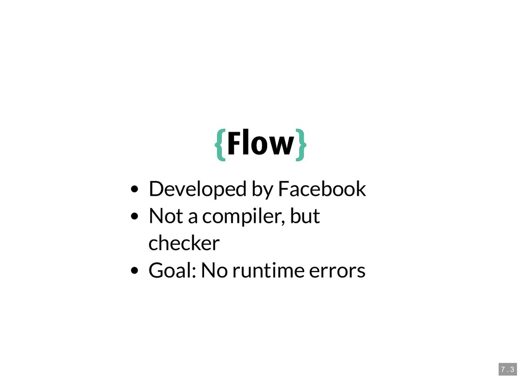{ {Flow Flow} } Developed by Facebook Not a com...