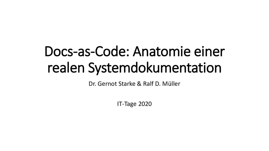 Docs-as-Code: Anatomie einer realen Systemdokum...