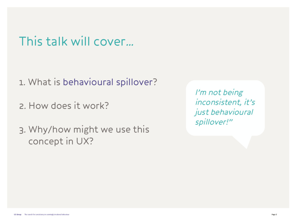 Page 2 U1 Group 1. What is behavioural spillove...
