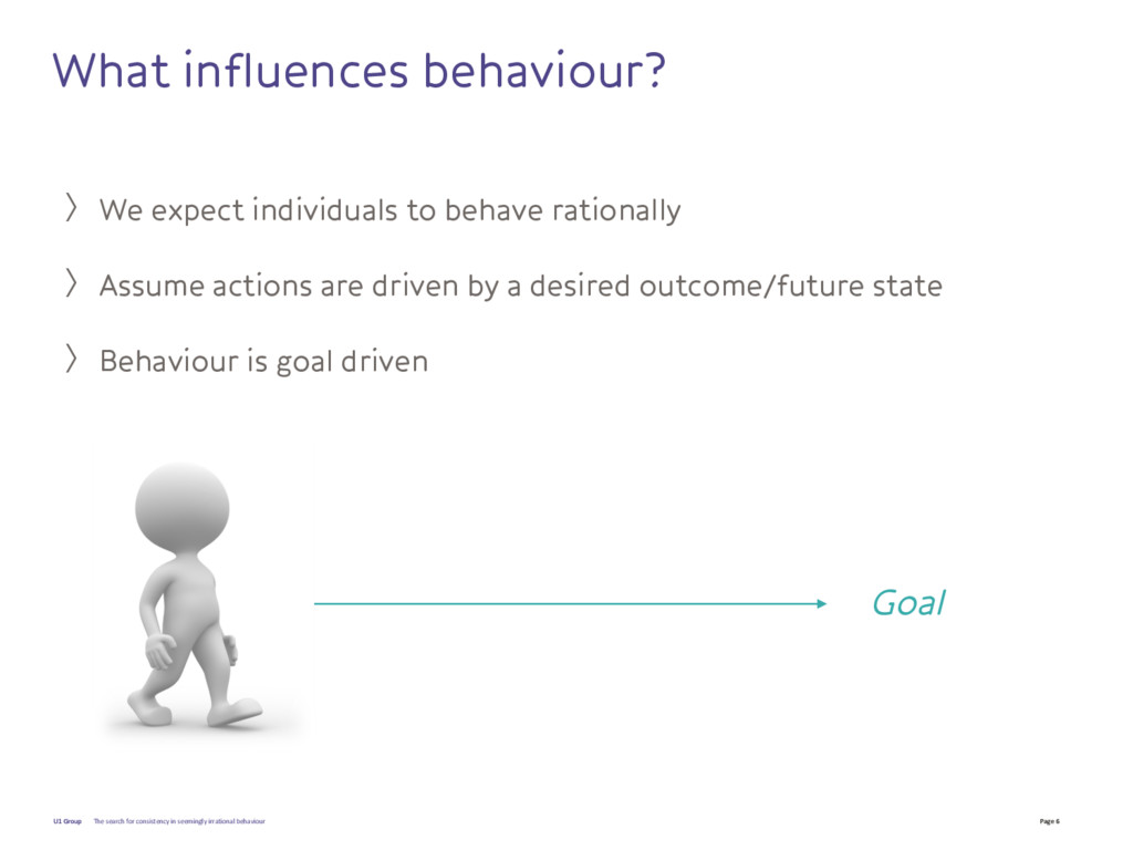 Page 6 U1 Group What influences behaviour? 〉We ...