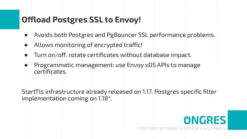 POSTGRES NETWORK FILTER FOR ENVOY PROXY Offload...