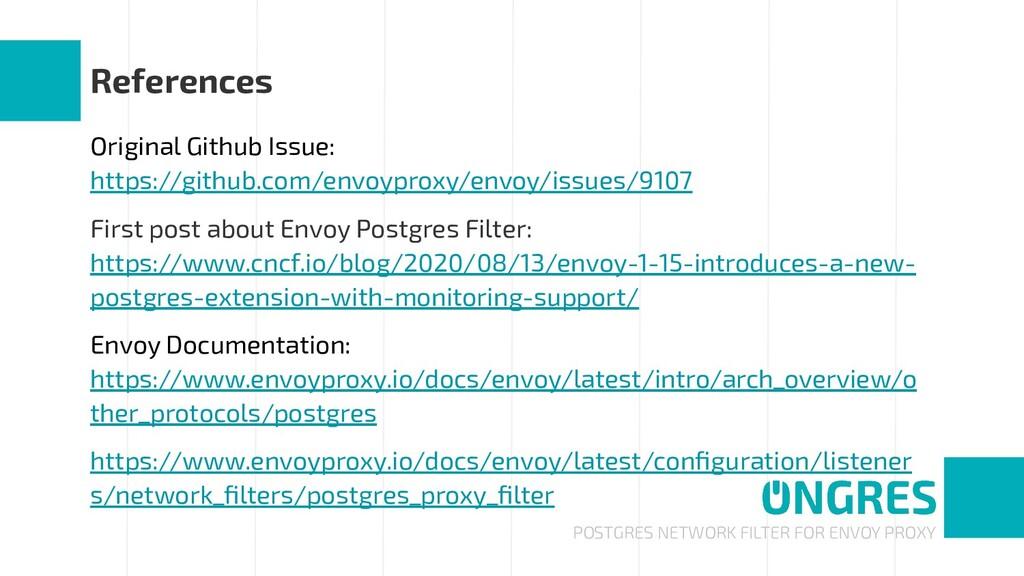 POSTGRES NETWORK FILTER FOR ENVOY PROXY Referen...