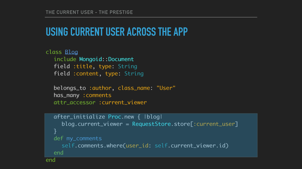 THE CURRENT USER - THE PRESTIGE USING CURRENT U...