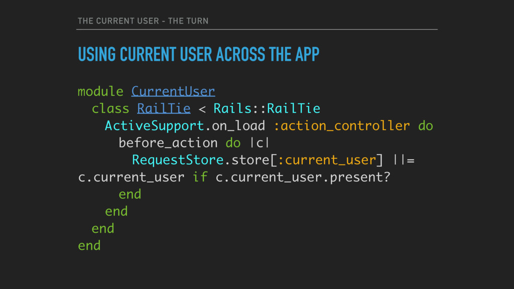 THE CURRENT USER - THE TURN USING CURRENT USER ...