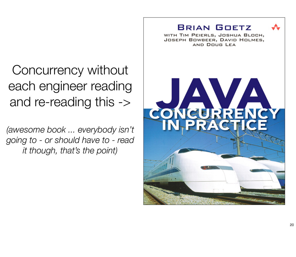 Concurrency without each engineer reading and r...