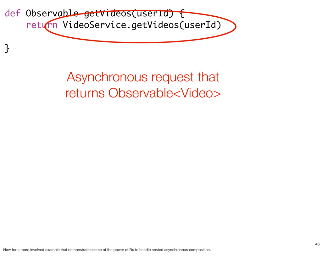 def Observable getVideos(userId) { return Video...