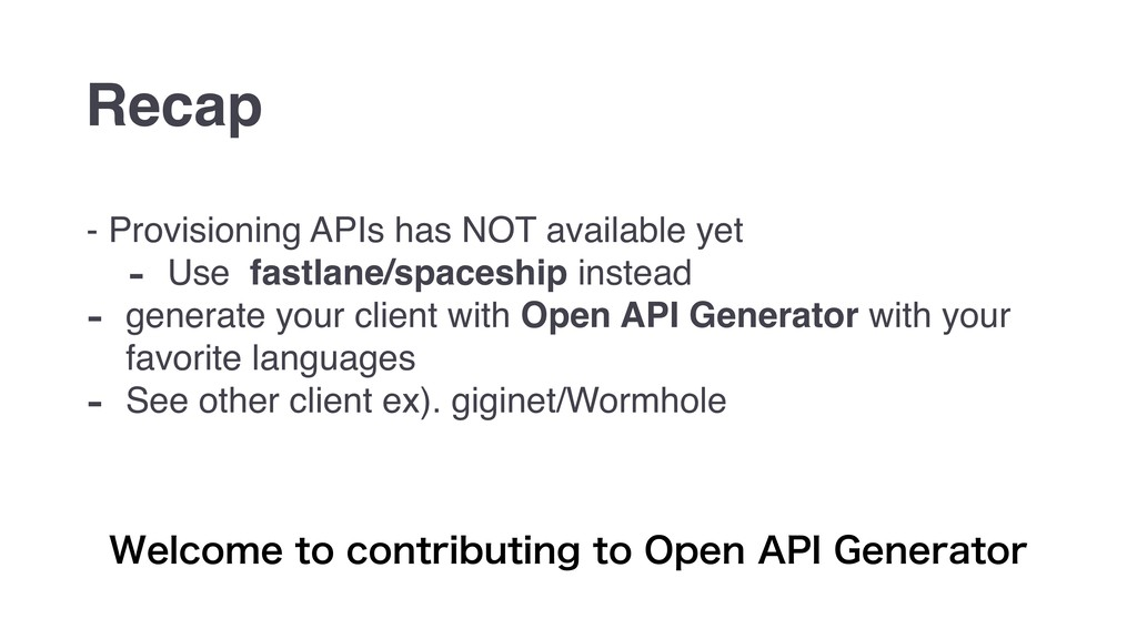 - Provisioning APIs has NOT available yet - Use...