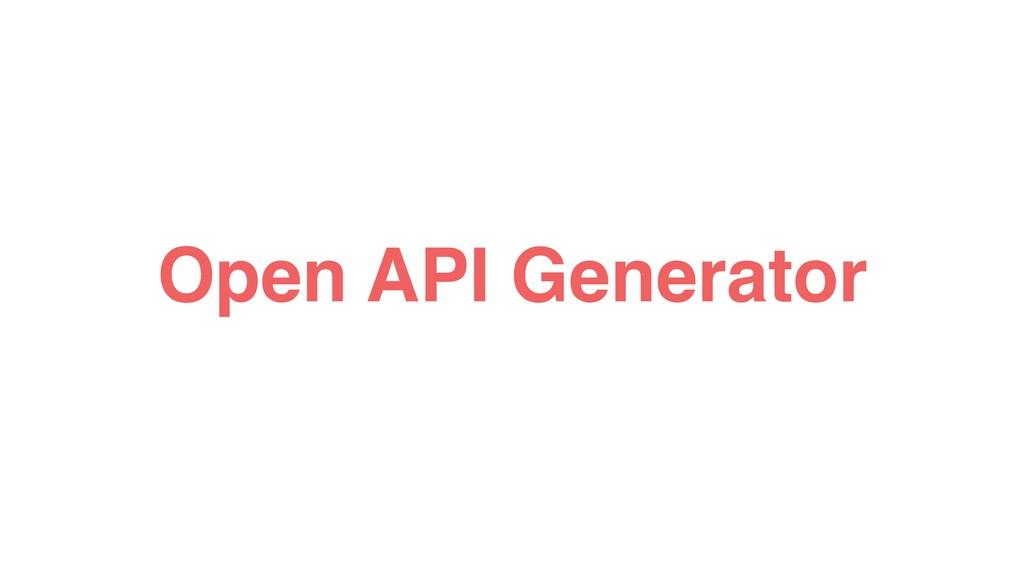 Open API Generator